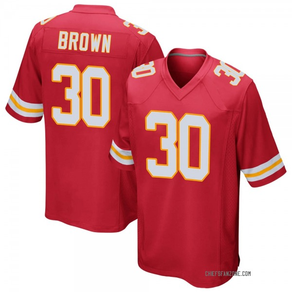 Youth Alex Brown Kansas City Chiefs Game Red Team Color Jersey
