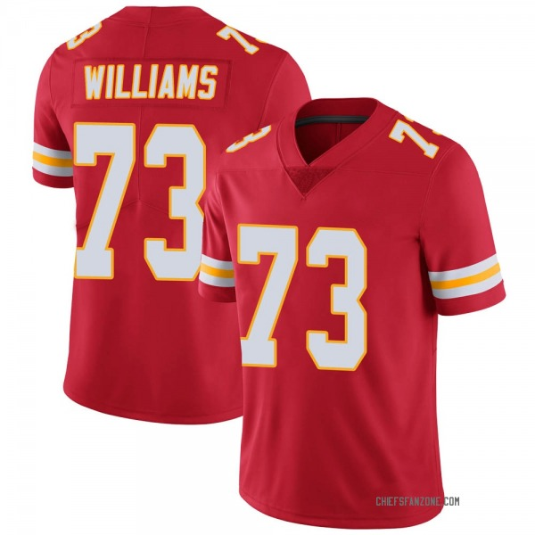 Youth Darryl Williams Kansas City Chiefs Limited Red Team Color Vapor Untouchable Jersey