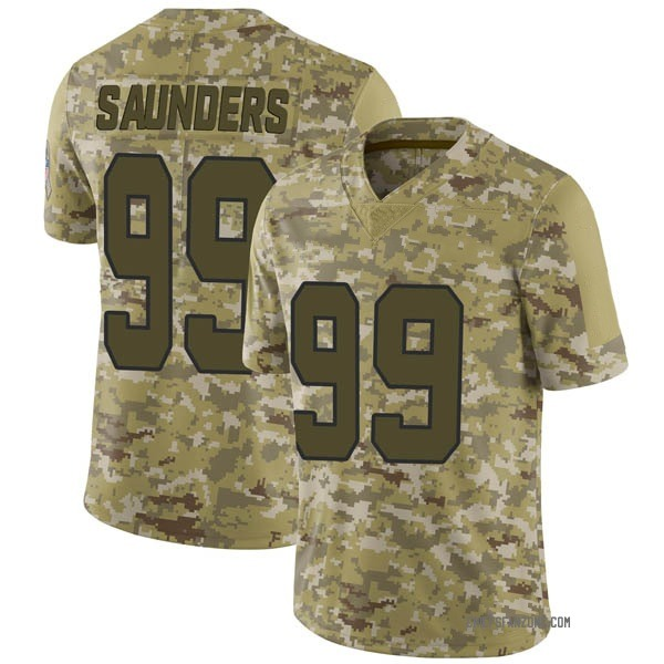 Youth Khalen Saunders Kansas City Chiefs Limited Camo 2018 Salute to Service Jersey