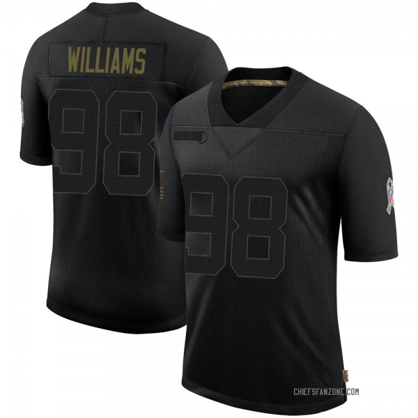 Youth Xavier Williams Kansas City Chiefs Limited Black 2020 Salute To Service Jersey